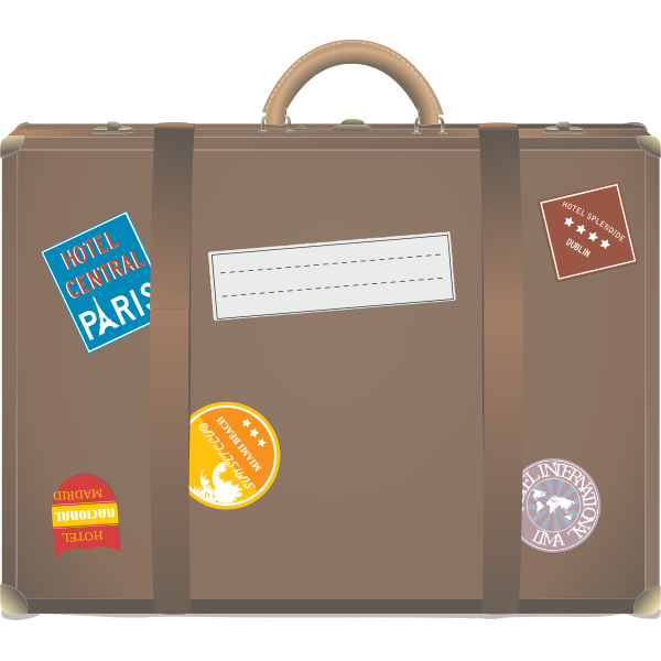 Travel suitcase vector illustration