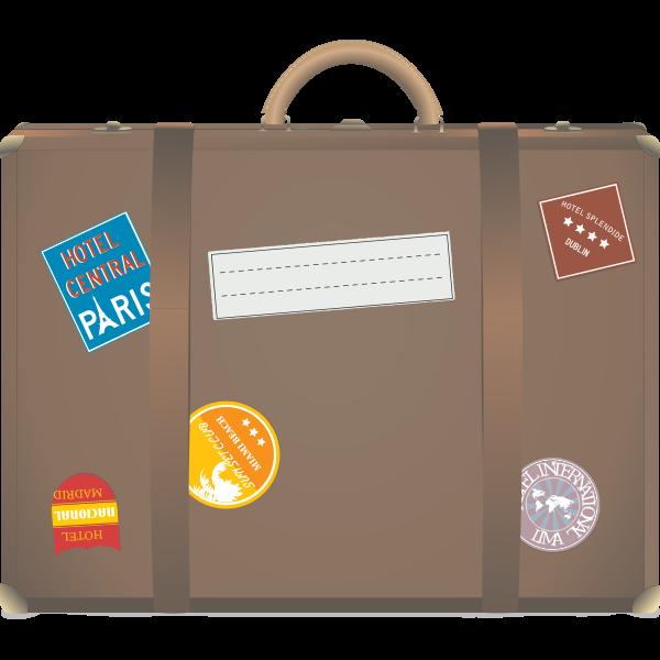 Travel suitcase vector illustration