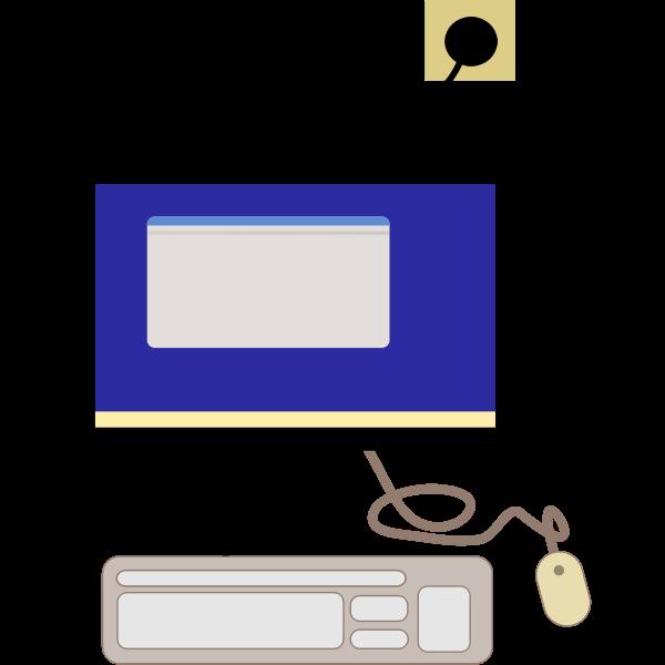Computer terminal vector image