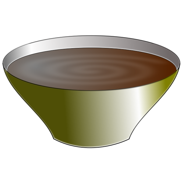 Vector graphics of bowl full of chocolate cream
