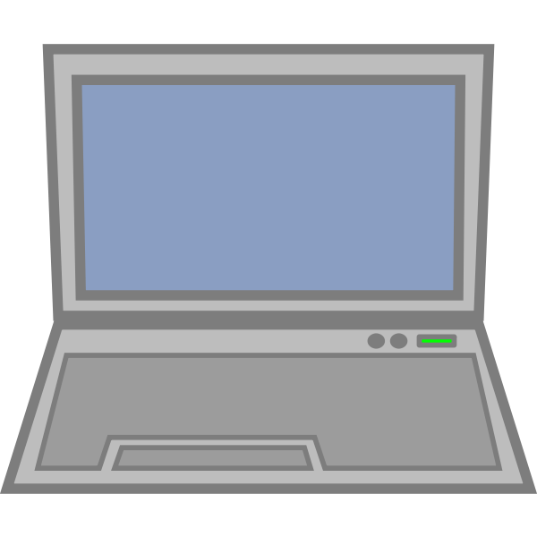 Laptop computer icon vector illustration