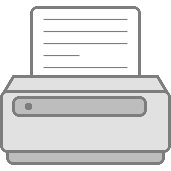 Simple printer vector icon