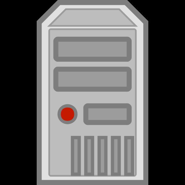 Color vector image of server symbol