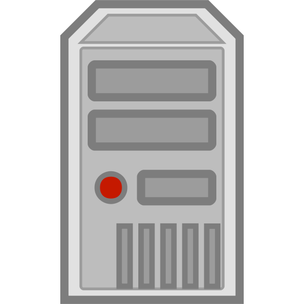 Color vector image of server symbol