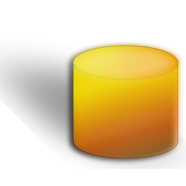 Orange vector image of database