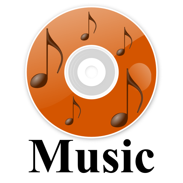 Music file icon vector drawing