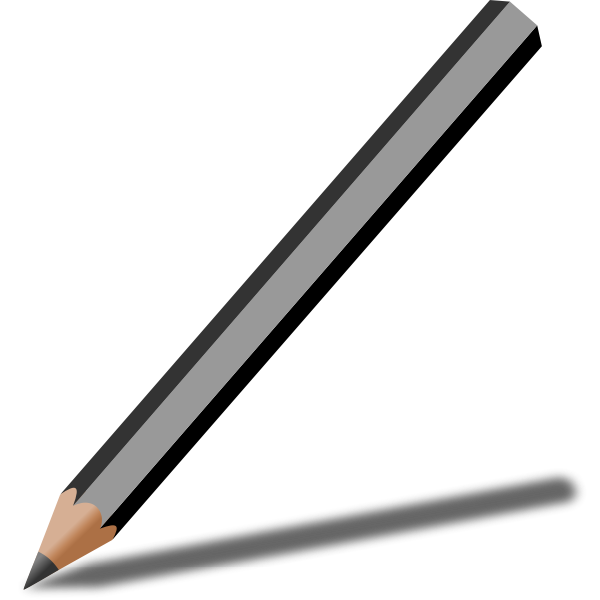 Graphite pencil with shadow vector illustration