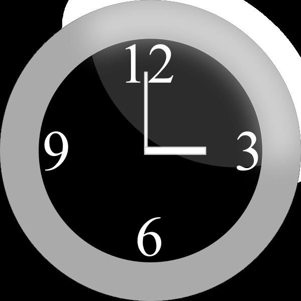 Vector clip art of modern clock