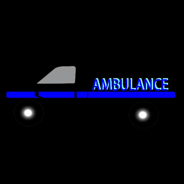Medical van vector illustration
