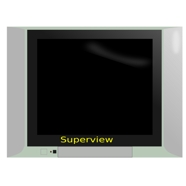 Superview TV set vector drawing