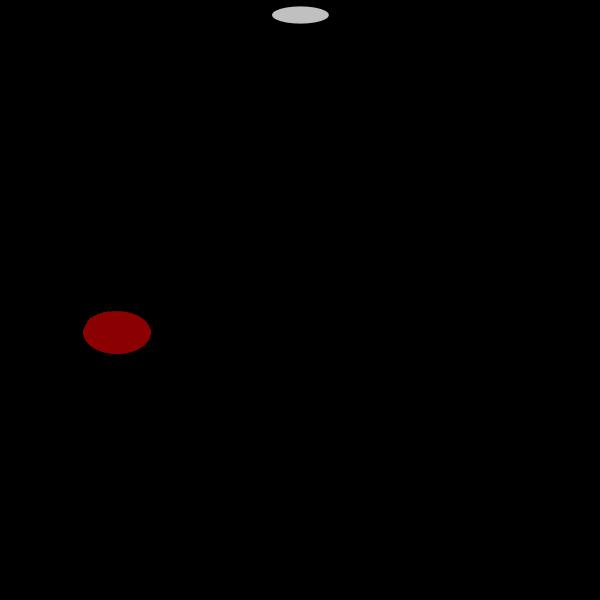 Vector image of retro wireless joystick