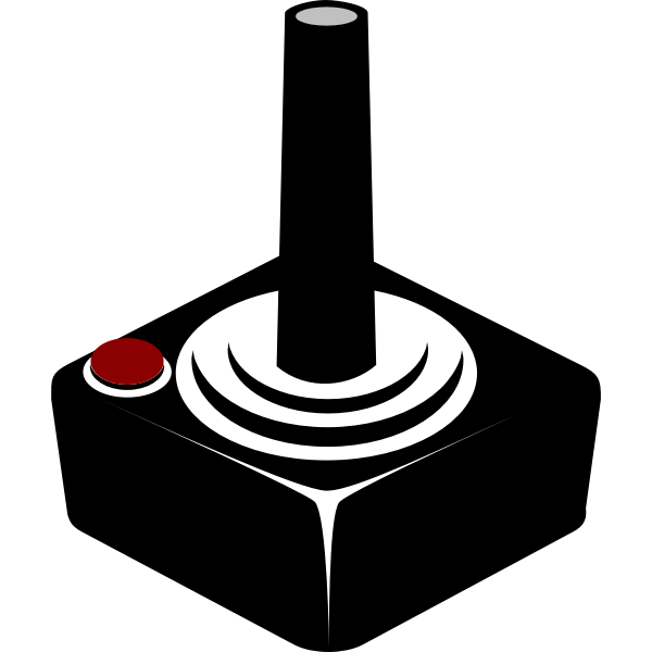 Vector image of retro wireless joystick