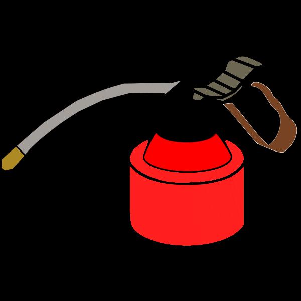 Vector clip art of oil spray can