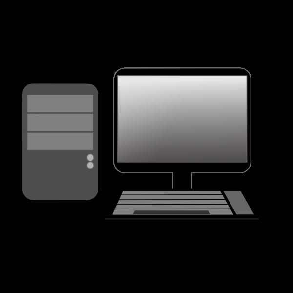 computer cpu and monitor vector image free svg computer cpu and monitor vector image