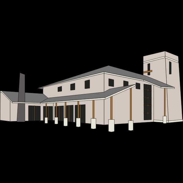 Providence bible church vector illustration