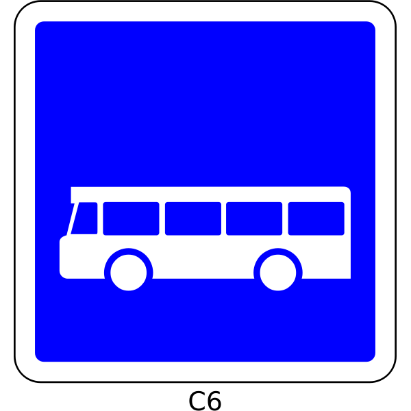 Bus only road sign vector image