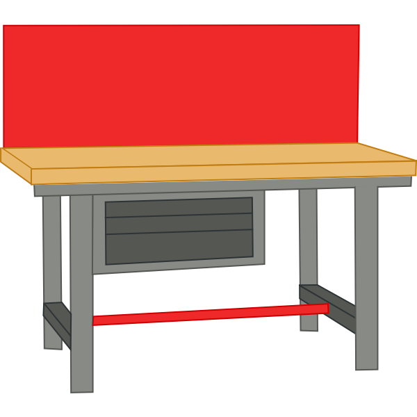 Color image of work bench