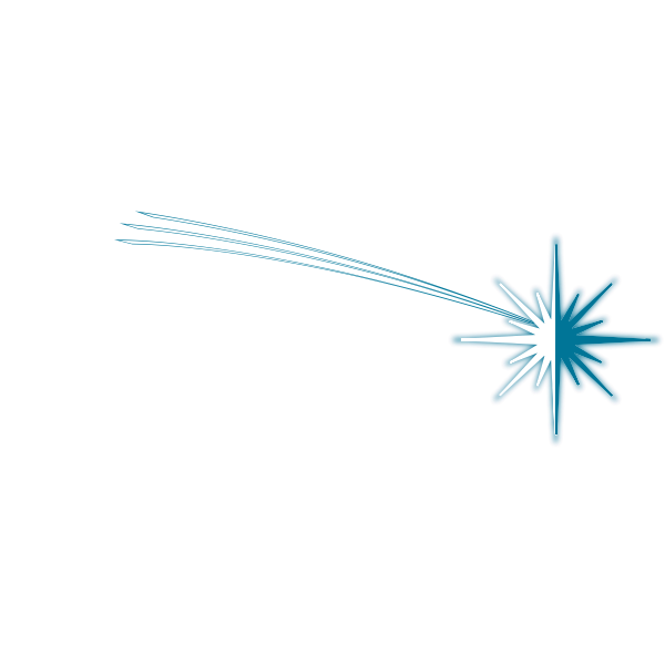 Vector image of star of bethlehem decoration