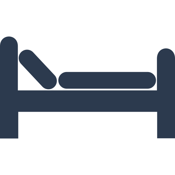 Vector illustration of simple bed