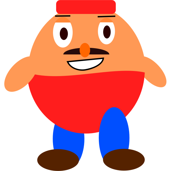 Platformer game character vector clip art