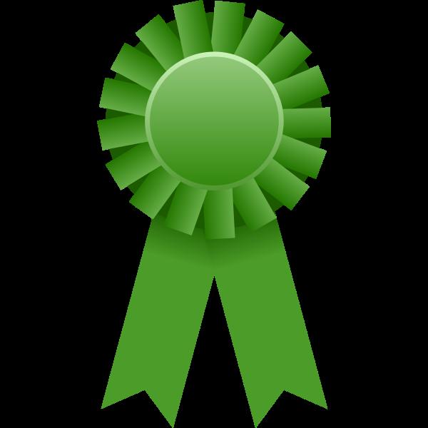 Vector graphics of green rosette