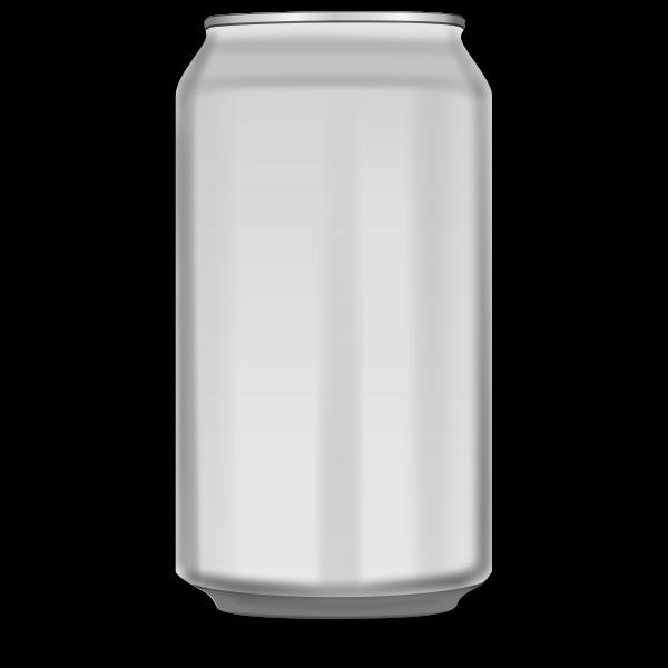 Vector image of orange soda can