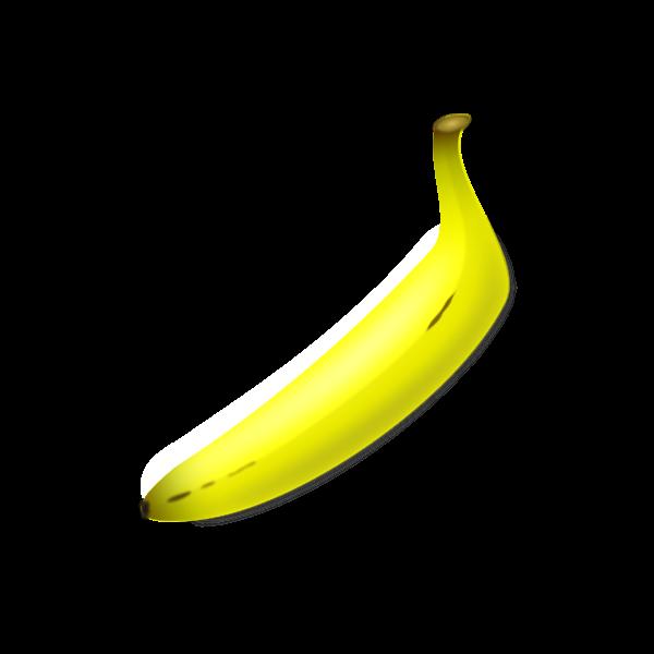 Vector clip art of straight shaped banana