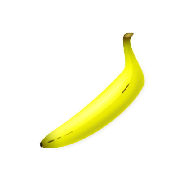 Vector clip art of straight shaped banana