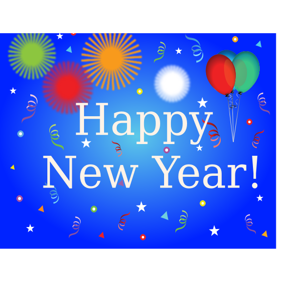 Happy New Year banner with balloons vector image