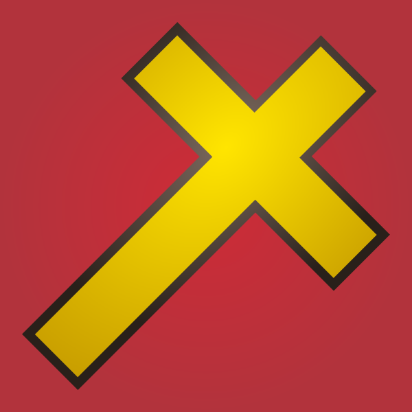 Holy cross yellow icon vector image
