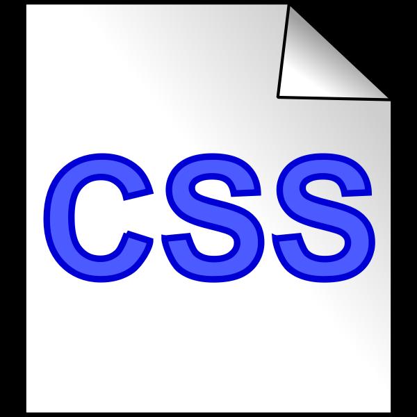CSS file icon vector clip art