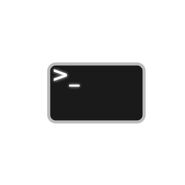 Vector illustration of command line icon