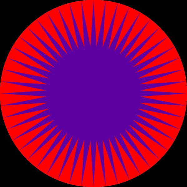 Geometrical color star art vector clip art