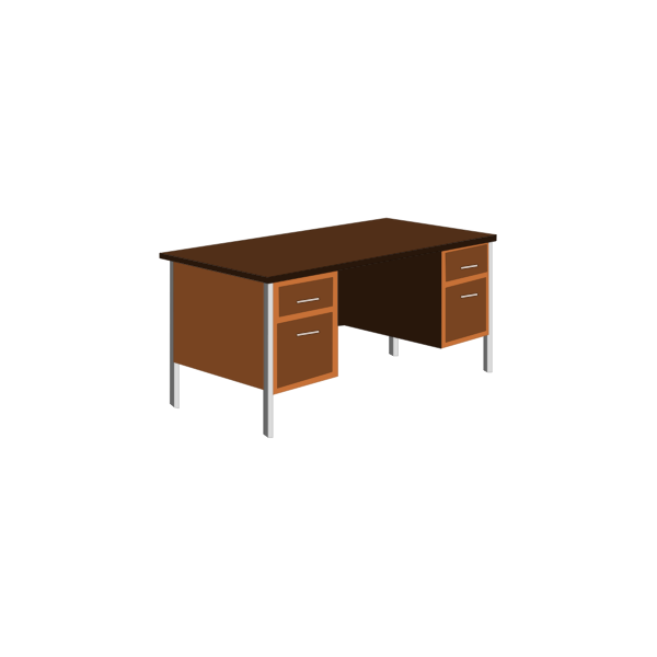 Office desk vector clip art