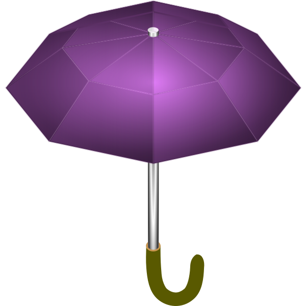 Purple umbrella vector drawing