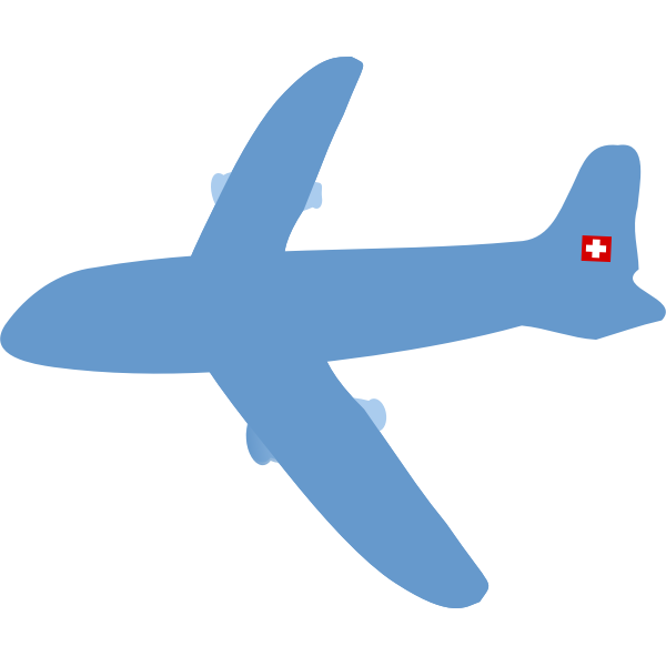 Swiss airplane vector