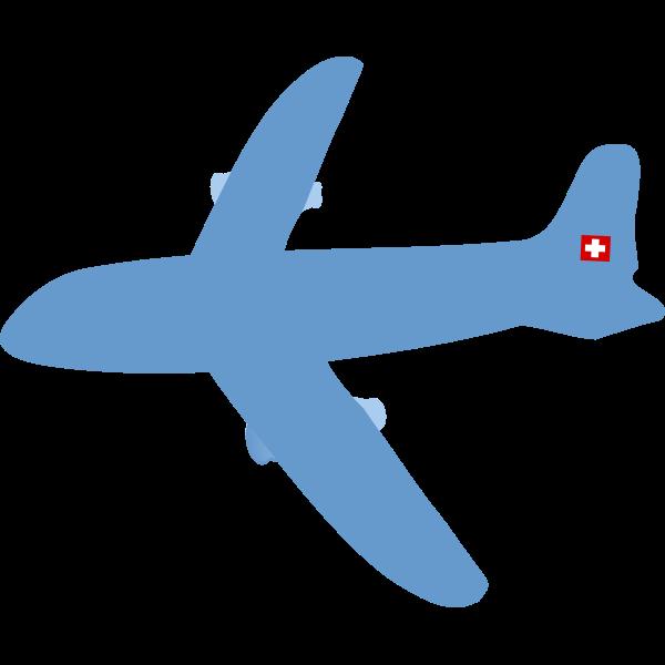 Swiss airplane vector