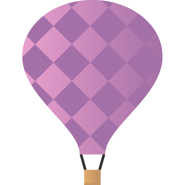 Air balloon vector illustration