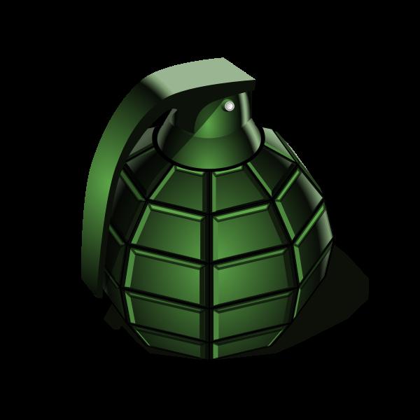 green hand grenade vector clip art