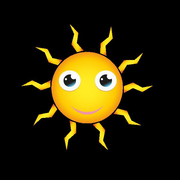 Happy Sun Cartoon Style