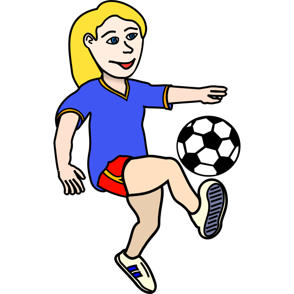 Girl playing football vector image