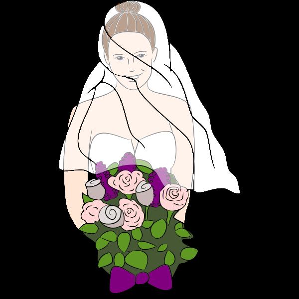 Happy bride clip art