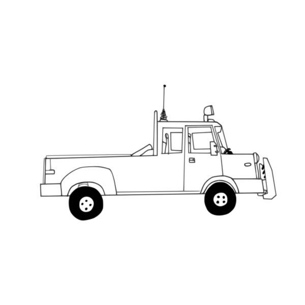 Truck vector drawing