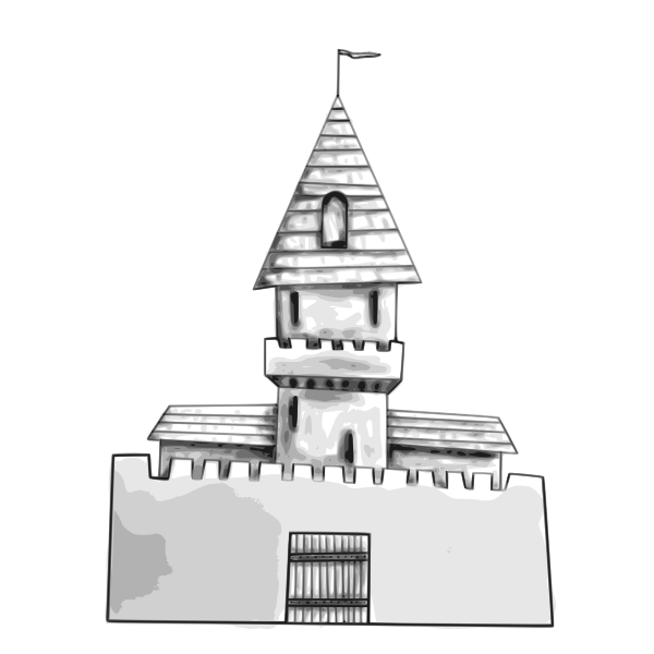 Castle vector drawing