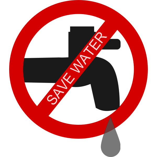 Save water logo vector image