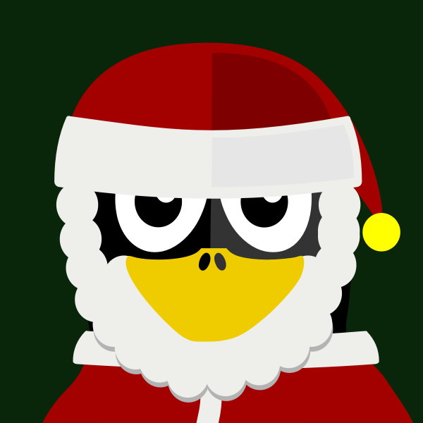 Santa penguin vector image