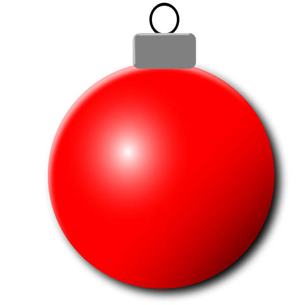 Red Christmas ornament vector image