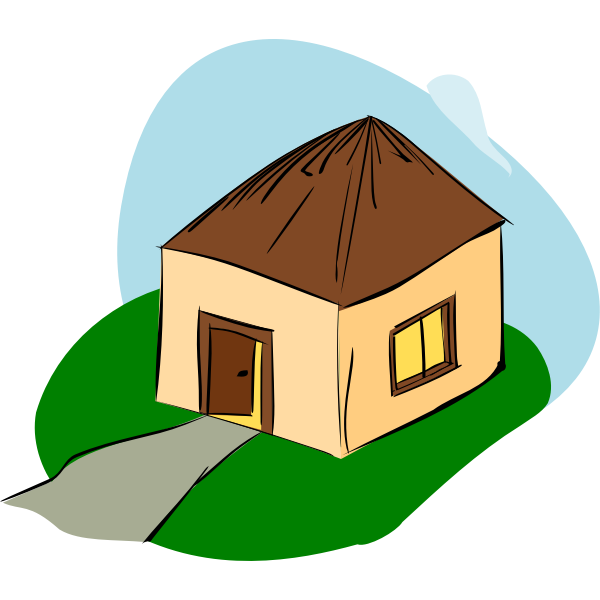 Vector drawing of stylized hut