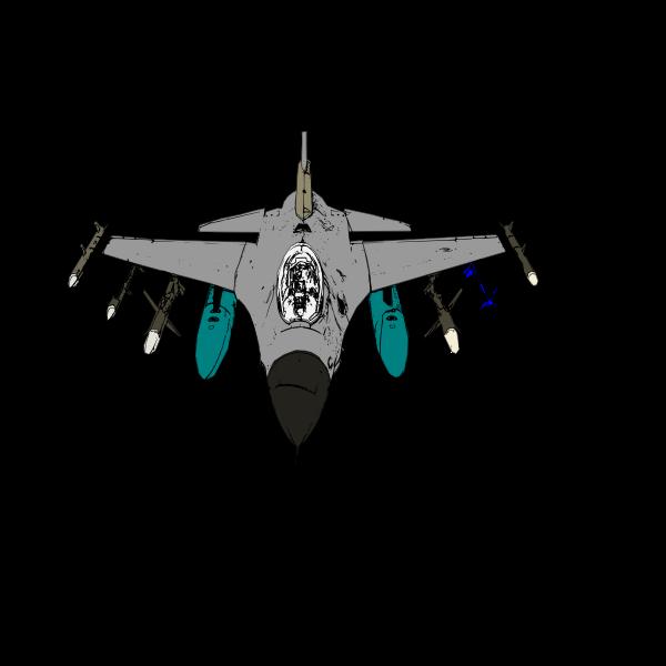 Bomber plane vector illustration