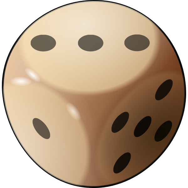 Vector illustration of glossy dice